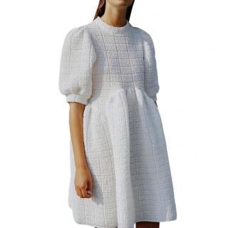 Cecilie Bahnsen White Smock Cotton Dress