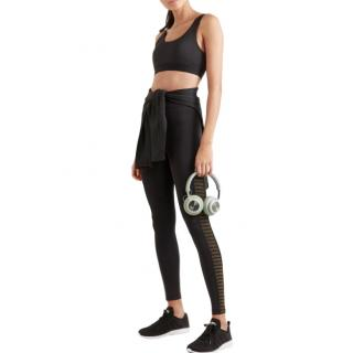 Koral Chameleon metallic mesh-paneled stretch-scuba leggings