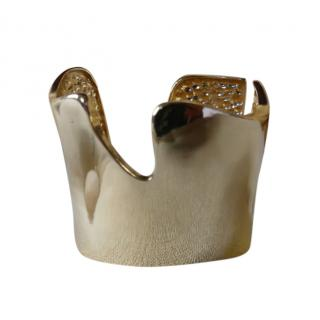 Kenneth Jay Lane Gold Tone Asymmetric Cuff
