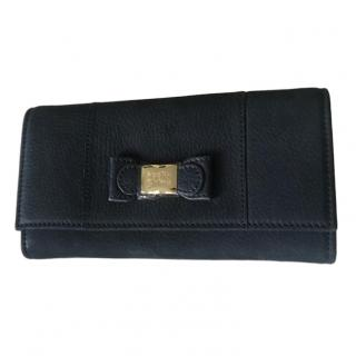 See By Chloe Navy Leather Wallet