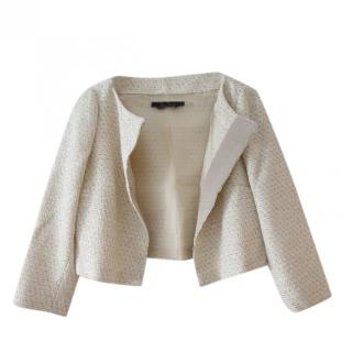 Max Mara Sequin Embellished Cropped Jacket