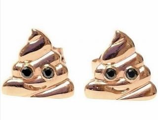 Alison Lou Rose Gold Emoji Stud Earrings