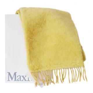 Max Mara Lemon Yellow Camel Teddy Shawl