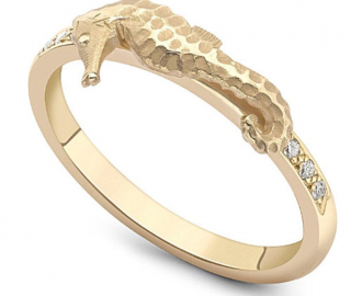 Theo Fennell Seahorse Diamond Ring