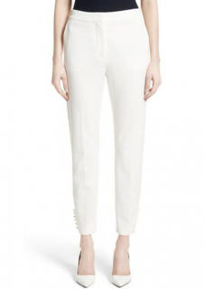 Max Mara White Papaile Crop Pants