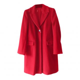 Max Mara Red Wool & Cashmere Coat