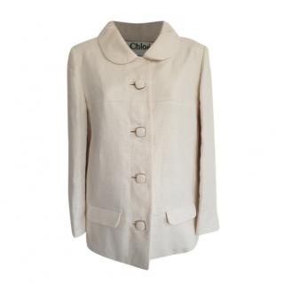 Chloe Ivory Linen Jacket