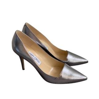 Jimmy Choo Metallic Alia Pumps