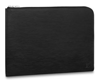 Louis Vuitton Black Epi Leather Pochette Jour Gm