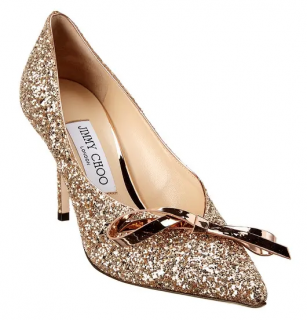 Jimmy Choo Scarlette 85 Coarse Glitter Pumps