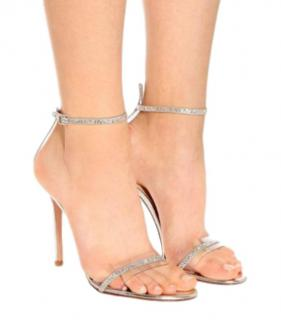 Gianvito Rossi Crystal Embellished Plexi Sandals