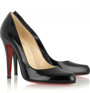 Christian Louboutin Black D�collet� 100 jazz pumps