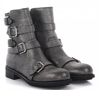 Jimmy Choo Dawson Ankle Boots in Grey