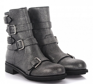 Jimmy Choo Dawson Ankle Boots in Grey