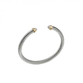 David Yurman Cable Kids Birthstone Diamond Bracelet