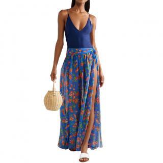 Caroline Constas Hera Printed Cotton & Silk Voile Skirt