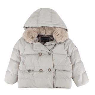 Bonpoint Stone Fur Collared Padded Puffer Jacket
