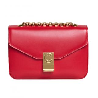Celine Red Leather Medium C Shoulder Bag