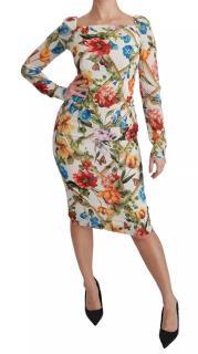 Dolce & Gabbana Floral Trellis Print Sheath Dress