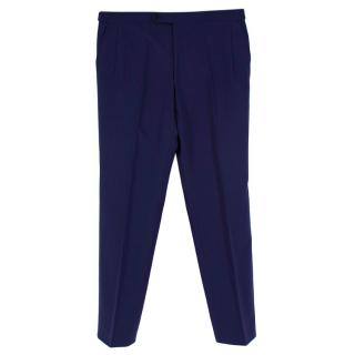 Donato Liguori Electric Blue Bespoke Tailored Trousers