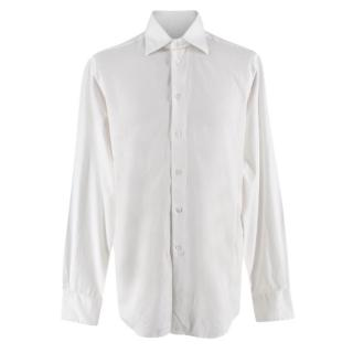 Richard James White Cotton Paisley Shirt