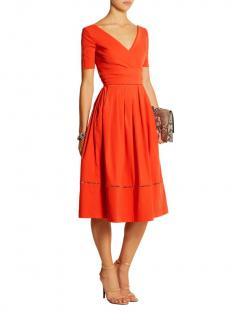 Preen by Thornton Bregazzi Red Robin Stretch Crepe Midi Dress