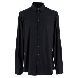 Dolce & Gabbana Black Gold Fit Cotton Blend Poplin Shirt