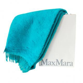 Max Mara Turquoise Camel Teddy Scarf