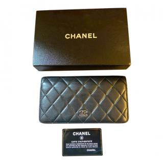 Chanel Black Quilted Leather Classic Wallet