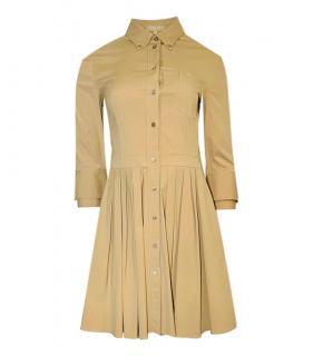 Michael Kors Collection Cotton Mini Shirt Dress