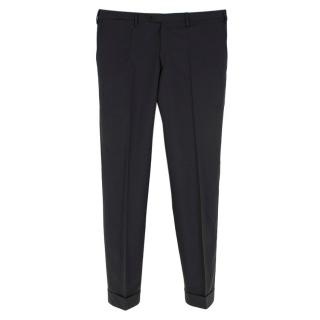 Kiton Grey Wool Tailored Trousers