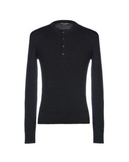 Dolce & Gabbana Charcoal Grey Virgin Wool Ribbed Sweater top