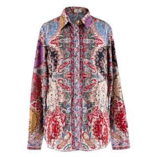 Etro Paisley Print Cotton Slim Fit Shirt