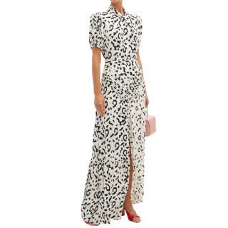 Self Portrait Monochrome Leopard Crepe Maxi Dress
