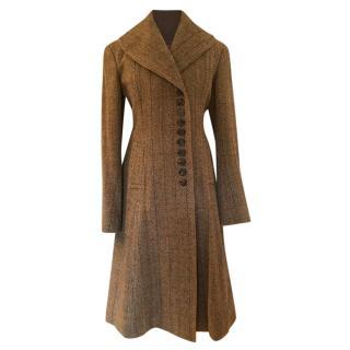 Ralph Lauren purple label collection herringbone wool coat