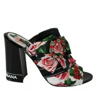 Dolce & Gabbana embellished floral mules