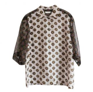 Dries Van Noten Contrast Printed Blouse