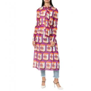 Dolce & Gabbana Bellezza-print midi shirtdress