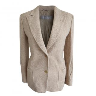 MaxMara camel wool /silk blend blazer