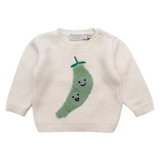 Stella McCartney Kids Ecru Cotton-Wool Blend Peas Jumper