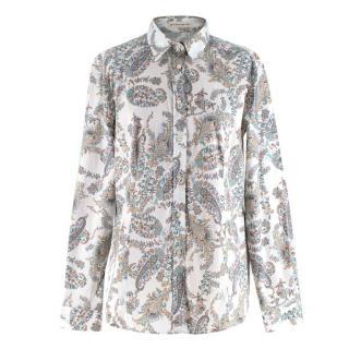 Etro White Paisley Print Shirt