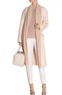 Bottega Veneta Blush Pink Cashmere Tie Waist Coat