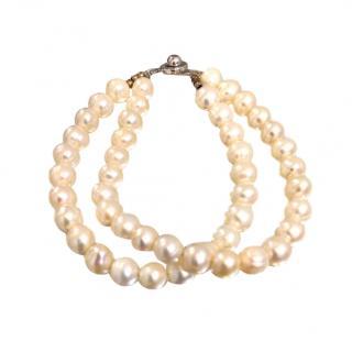 Bespoke Vintage Fresh Water Double Strand Pearl Bracelet