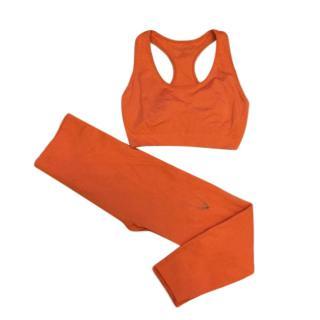 Lucas Hugh Orange Crop Leggings & Sports Bra