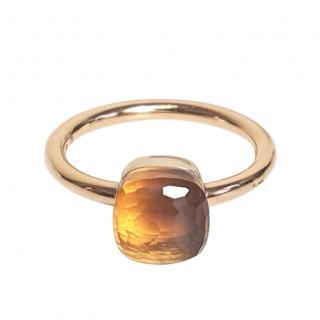 Pomellato 18kt Rose Gold Citrine Nudo Ring
