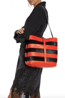 Proenza Schouler Striped Orange/Black Frame Tote Bag