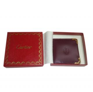 Cartier Burgundy Travel Photo Wallet