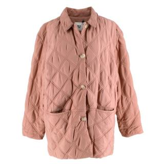 Becken Dusty Pink Oversized Quilted Paddock Jacket