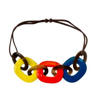 Hermes Karamba necklace in lacquered buffalo horn