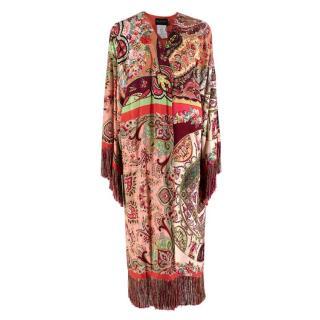 Etro Long Multi-Coloured Paisley Print Jacket/coat